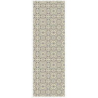 Quad European 72 X 24 inch Grey and White Outdoor Rug