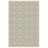 Quad 72 X 48 inch Grey and White Outdoor Rug