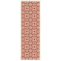 Quad 72 X 24 inch Red and White Outdoor Rug
