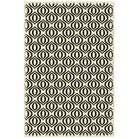 Ring 72 X 48 inch Black and White Outdoor Rug