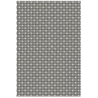 Ring of European 72 X 48 inch Black and White Outdoor Rug