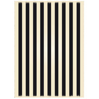 Strips 84 X 60 inch Black and White Outdoor Rug