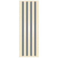 Strips 72 X 24 inch Grey and White Outdoor Rug
