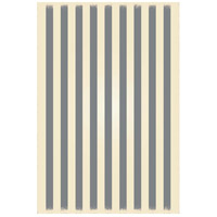 Strips 72 X 48 inch Grey and White Outdoor Rug