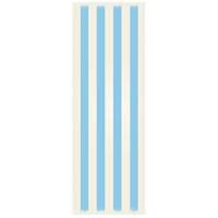 Strips 72 X 24 inch Light Blue and White Outdoor Rug