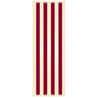 Strips 72 X 24 inch Red and White Outdoor Rug