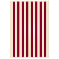 Strips 72 X 48 inch Red and White Outdoor Rug
