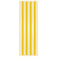 Strips 72 X 24 inch Yellow and White Outdoor Rug