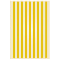 Strips 72 X 48 inch Yellow and White Outdoor Rug
