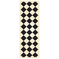 Diamond 72 X 24 inch Black and White Outdoor Rug