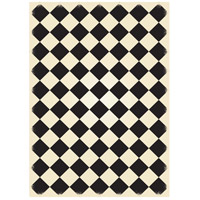 Diamond 84 X 60 inch Black and White Outdoor Rug