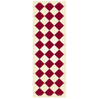 Diamond 72 X 24 inch Red and White Outdoor Rug