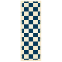 English Checker 72 X 24 inch Blue and White Outdoor Rug