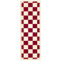 English Checker 72 X 24 inch Red and White Outdoor Rug