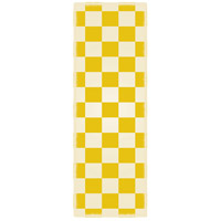 English Checker 72 X 24 inch Yellow andWhite Outdoor Rug
