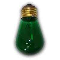 Medium S14 Green String Light Replacement Bulb