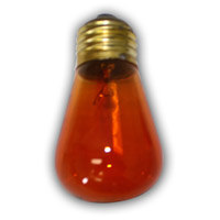 Medium S14 Amber String Light Replacement Bulb