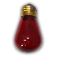 Medium S14 Red String Light Replacement Bulb