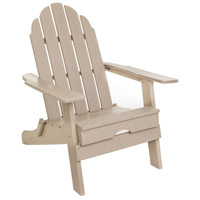Folding Poly Sand Outdoor Adirondack Chair in Gray, Commercial-Grade