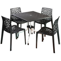 Cafe 20 X 20 inch Black Outdoor Bistro Table, Commercial-Grade