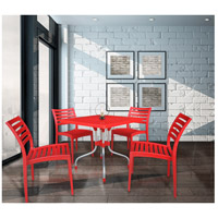 Cafe 20 X 20 inch Red Outdoor Bistro Table, Commercial-Grade