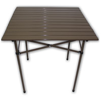 Table in a Bag 27 X 27 inch Brown Tall Portable Table, Lightweight, Folding