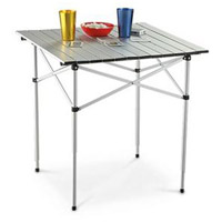 Table in a Bag 27 X 27 inch Silver Tall Portable Table, Lightweight, Folding