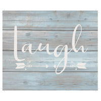 Saying Blue and Gray on Washout Grey Wall Art in Laugh, Laugh