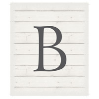 Letter Washed-Out White Decorative Wall Sign in B
