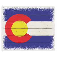 Flag Washed-Out White Decorative Wall Sign in Colorado