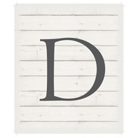 Letter Washed-Out White Decorative Wall Sign