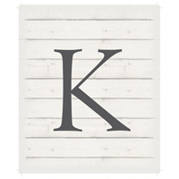 Letter Washed-Out White Decorative Wall Sign in K