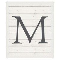 Letter Washed-Out White Decorative Wall Sign in M