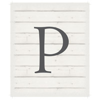 Letter Washed-Out White Decorative Wall Sign in P