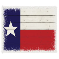 Flag Washed-Out White Decorative Wall Sign in Texas