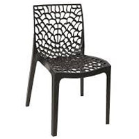 Restaurant Cafe Stackable Black Outdoor Bistro Chair, Commercial-Grade