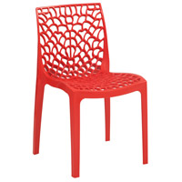 Restaurant Cafe Stackable Red Outdoor Bistro Chair, Commercial-Grade