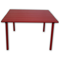 Table in a Bag 27 X 27 inch Red Low Portable Table, Lightweight, Folding