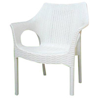 Aspen Brands CAMWHTA Restaurant Cafe Stackable White Outdoor Bistro Chair, Commercial-Grade