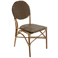 Aspen Brands CBCBC French Cafe Brown and Cream Outdoor Bistro Chair, Commercial-Grade