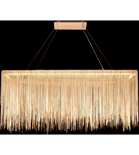 Fountain Ave Led 12 Inch Gold Chain Hanging Chandelier Ceiling Light