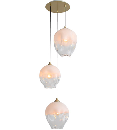 Avenue Lighting Hf8143 Bb Wh Sonoma Ave 3 Light 18 Inch Brushed Br Pendant Cer Ceiling