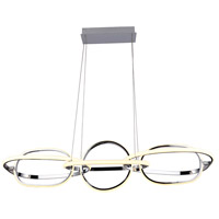 Avenue Lighting HF5025-CH Circa LED 21 inch Chrome Hanging Pendant Ceiling Light