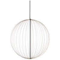 Avenue Lighting HF8210-GL Delano LED 24 inch Gold Hanging Chandelier Ceiling Light