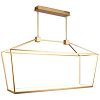 Avenue Lighting HF9403-GLD Park Ave. LED 17 inch Gold Hanging Chandelier Ceiling Light