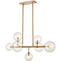 Avenue Lighting HF4207-AB Delilah 7 Light 24 inch Aged Brass Hanging Chandelier Ceiling Light