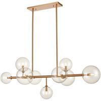 Avenue Lighting HF4209-AB Delilah 9 Light 24 inch Aged Brass Hanging Chandelier Ceiling Light