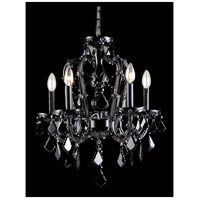 Avenue Lighting HF1037-BLK Onyx Ln 5 Light 18 inch Black Crystal Mini Chandelier Ceiling Light