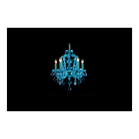 Avenue Lighting Ocean Drive 5 Light Mini Chandelier in Blue with Aqua Blue Crstal HF1037-BLU