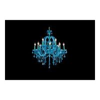 Avenue Lighting Ocean Drive 12 Light Chandelier in Blue with Aqua Blue Crstal HF1039-BLU